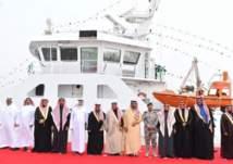 """تدشين السفينة السعودية """"ناجل"""" في ميناء الجبيل التجاري (صور)"""