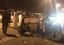 نهاية مأساوية لحادث اصطدام مركبة تقل 7 طلاب بمقبرة في محافظة المجاردة (صور)