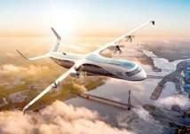 شاهد.. أكبر طائرة هجينة في العالم تقلع بصمت