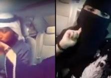 سعودية توجه نصائح مرورية و زوجها يكافئها بقبلة