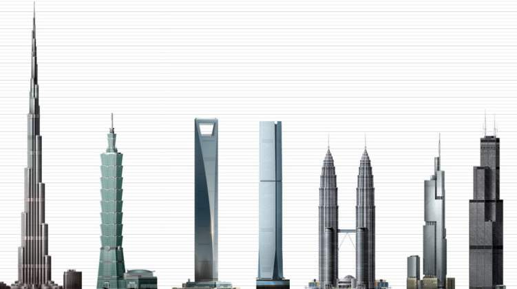 أطول 5 ناطحات سحاب في العالم