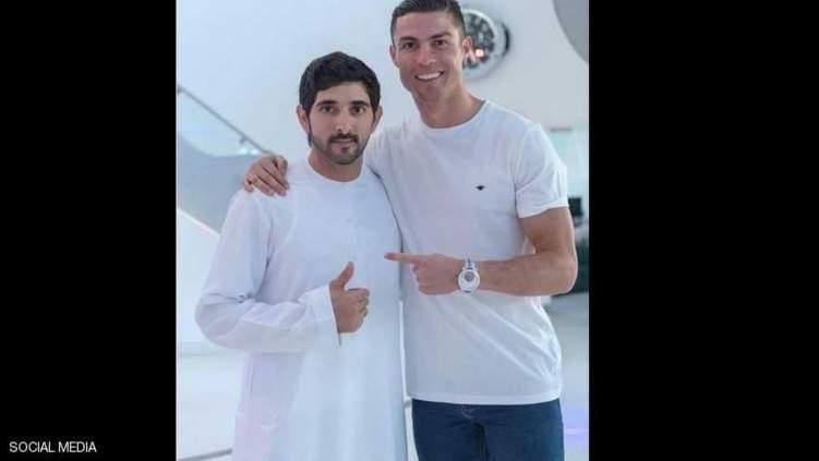 صورة رونالدو وولي عهد دبي تحظى بملايين الإعجابات.. ما قصتها؟