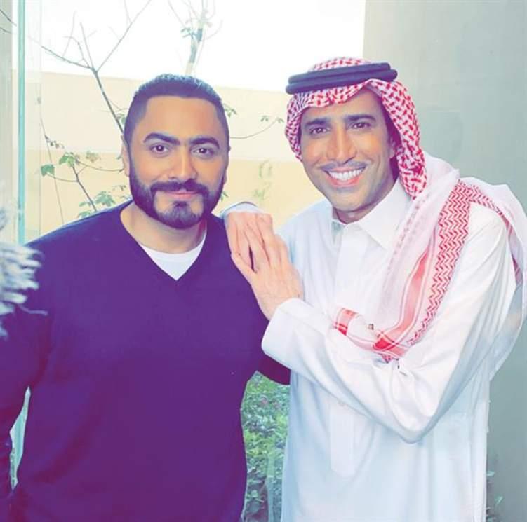 تامر حسني وفايز المالكي في عمل مشترك برعاية سعودية