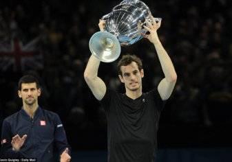 بالصور.. متوجاً بالبطولة الختامية.. موراي ملكاً على عرش التنس