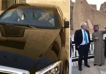 شاهد جولة وزير خارجية بريطانيا و الجبير في الرياض بسيارته المرسيدس
