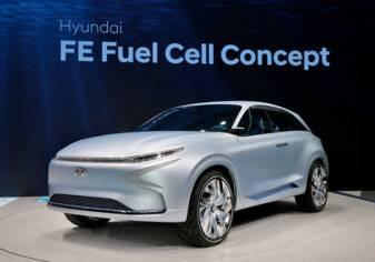 السيارة الاختبارية FE Fuel Cell من هيونداي تمثل مستقبل السيارات عديمة الانبعاثات