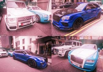 بالصور: سيارات فارهة وتحف خليجية بشوارع لندن...وهذه هي قيمتها