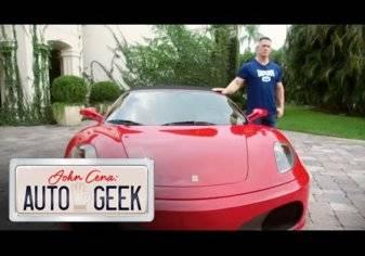 بالفيديو.. جون سينا يستعرض بسيارته الفيراري