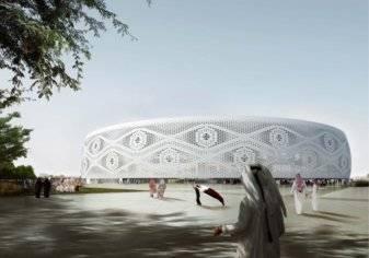 """بالصور.. قطر تكشف عن سادس ملاعب المونديال.. على شكل """"طاقية"""""""