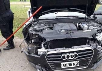 """بالصور: شقيق """"ميسي"""" يتعرض لحادث بسيارة أودي"""