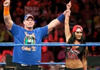 بالفيديو.. نجمتا NXT تثيران غيرة خطيبة جون سينا