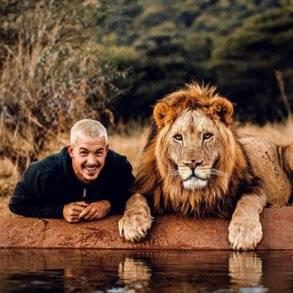 بالصور: جلسة تصوير احترافيه مع أسد!