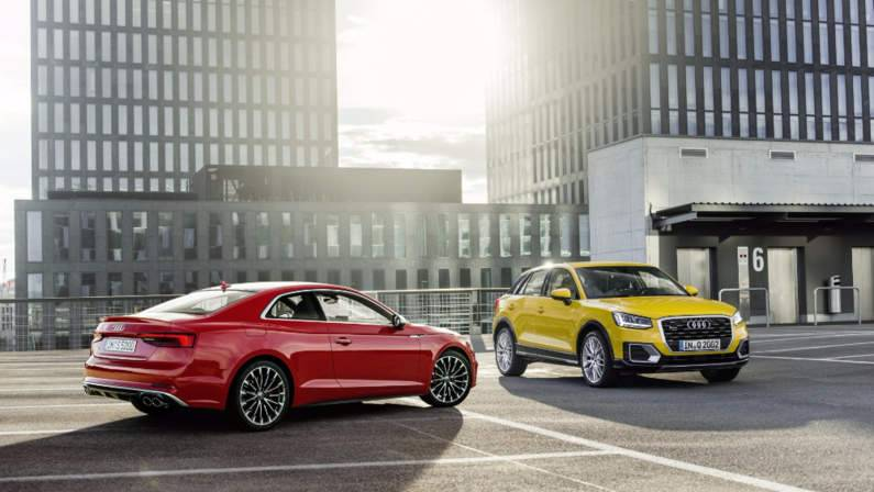 Audi A5 coupe and Audi Q2.jpg