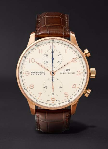 845086_IWC Portugieser Chronograph 18-carat Red Gold Dark Brown Alligato....jpg