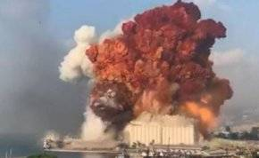 شاهد.. انفجار هائل في قلب العاصمة اللبنانية