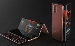 """بالصور: أول هاتف قابل للطي """"ثلاثي الشاشة"""" من سامسونغ"""