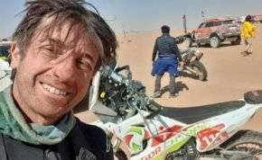 """""""شاهد"""" حادث خطير يودي بحياة الدراج الفرنسي في رالي داكار"""