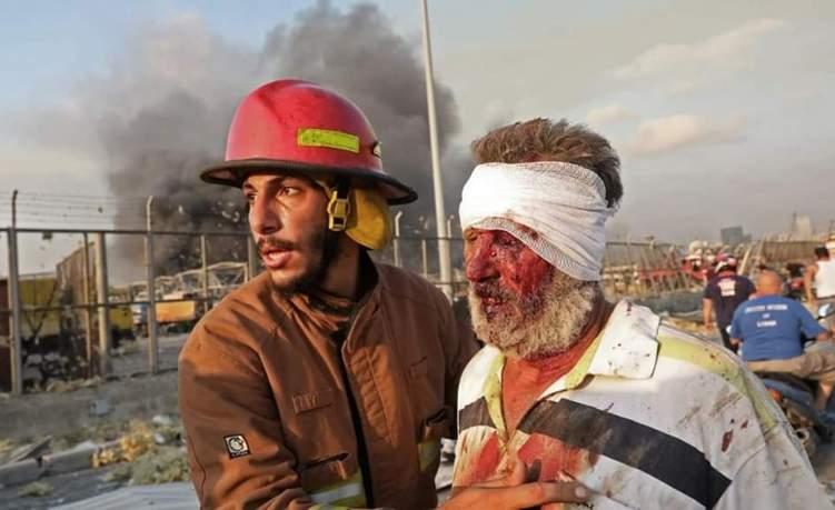 معزوفة سعودية حزينة تروي فاجعة بيروت المنكوبة (فيديو)
