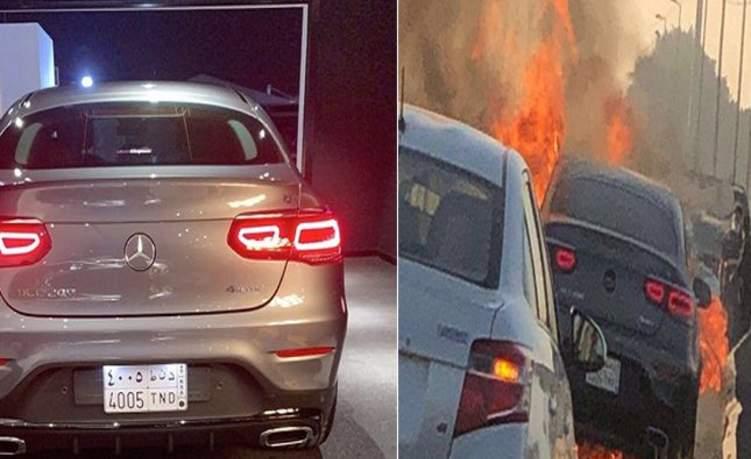 السعودية: احتراق سيارة فارهة بعد 48 ساعة من شرائها (فيديو)