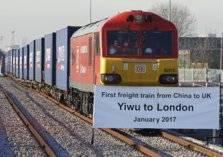 وصول أول قطار بضائع من الصين الي لندن