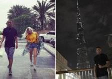بالصور.. نجم مانشستر يونايتد وصديقته على شواطئ دبي