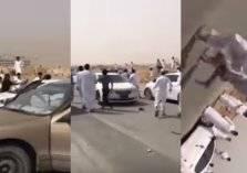 بالفيديو.. فوضى واشتباكات بالأسلحة في الرياض