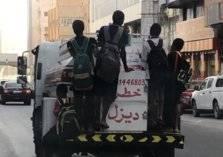 أطفال يثيرون حالة غضب بسبب ما فعلوه مع شاحنة بأحد شوارع مكة (فيديو)
