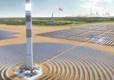 الانتهاء من صب خرسانة أطول برج لإنتاج الطاقة الشمسية في العالم بدبي