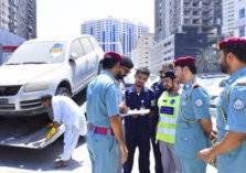 شرطة الشارقة تطلق حملة لسحب السيارات المتوقفة لفترات طويلة