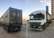مرور منطقة الرياض يطيح بقائد شاحنة بعد ما فعله في طريق الملك فهد (صور)