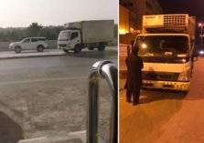 القبض على قائد مركبة متهور بعد ما فعله بأحد شوارع الرياض (صور)
