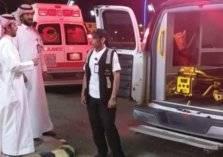انقلاب حافلة تقل 50 راكباً على طريق الطائف – الرياض (صور)
