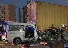 حادث مروري شنيع على شارع الشيخ محمد بن زايد (صور)