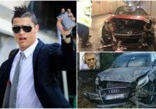 لاعبو كرة القدم يحطمون سياراتهم!
