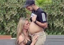 """عارضة أزياء تنشر صور زوجها الحامل بالشهر الثامن! شاهد """"الصور"""""""