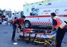 في الرياض وفاة شخصيين وإصابة ١5 شخص في حادث تصادم 4 سيارات