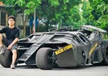 شاهد.. شاب يصنع سيارة باتمان الأسطورية بـ 20 ألف دولار