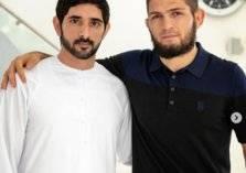 حمدان بن محمد يوجه رسالة لحبيب نورمحمدوف