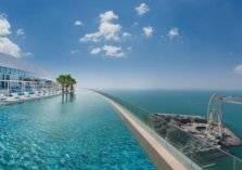 دبي تدخل غينيس بأعلى مسبح في العالم (صور)